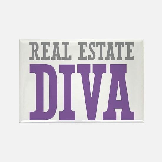 Real Estate DIVA Rectangle Magnet