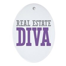 Real Estate DIVA Ornament (Oval)