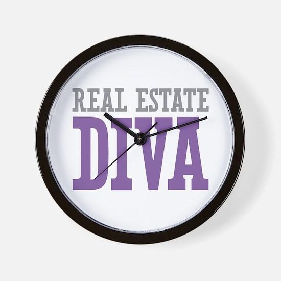 Real Estate DIVA Wall Clock