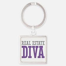 Real Estate DIVA Square Keychain
