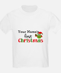 Custom Name 1st Christmas Owl T-Shirt