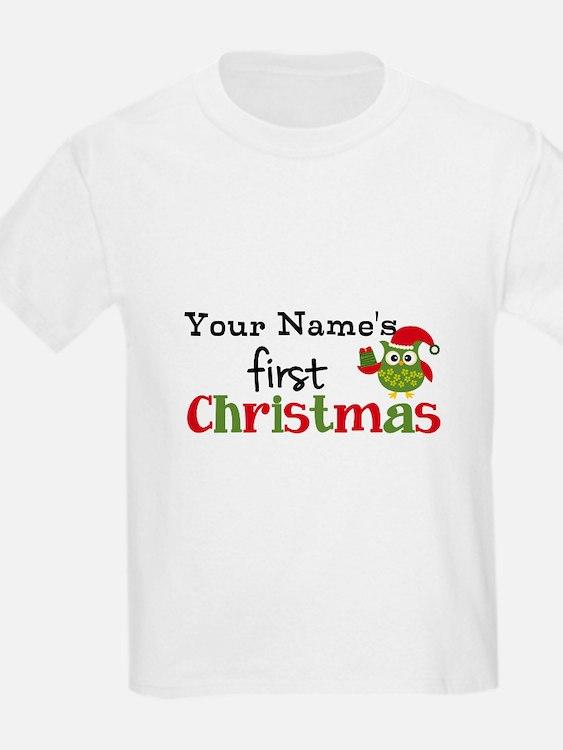 Custom Name 1st Christmas Owl T-Shirt