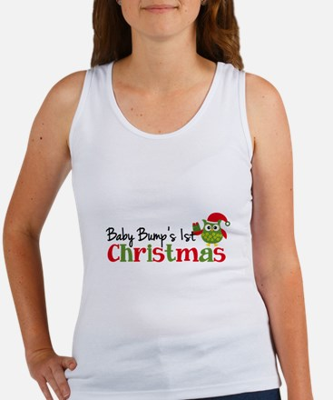 Baby Bump's 1st Christmas Owl Women's Tank Top