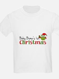 Baby Bump's 1st Christmas Owl T-Shirt