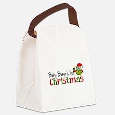 Baby Bump's 1st Christmas Owl Canvas Lunch Bag