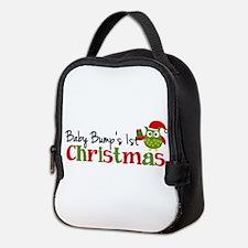 Baby Bump's 1st Christmas Owl Neoprene Lunch Bag