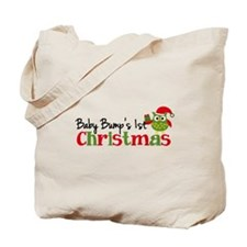 Baby Bump's 1st Christmas Owl Tote Bag