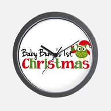 Baby Bump's 1st Christmas Owl Wall Clock