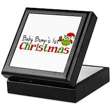 Baby Bump's 1st Christmas Owl Keepsake Box