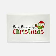 Baby Bump's 1st Christmas Owl Rectangle Magnet (10