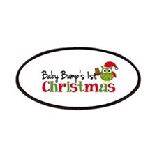 Baby Bump's 1st Christmas Owl Patches