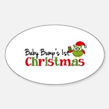 Baby Bump's 1st Christmas Owl Decal