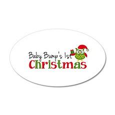 Baby Bump's 1st Christmas Owl Wall Decal