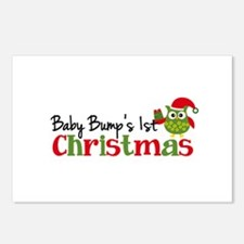Baby Bump's 1st Christmas Owl Postcards (Package o