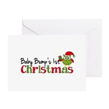 Baby Bump's 1st Christmas Owl Greeting Card