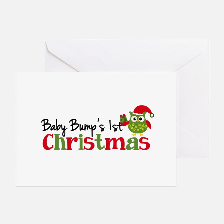 Baby Bump's 1st Christmas Owl Greeting Card