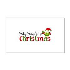 Baby Bump's 1st Christmas Owl Car Magnet 20 x 12