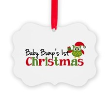 Baby Bump's 1st Christmas Owl Ornament