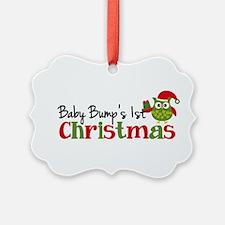 Baby Bump's 1st Christmas Owl Ornament