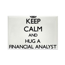 Keep Calm and Hug a Financial Analyst Magnets