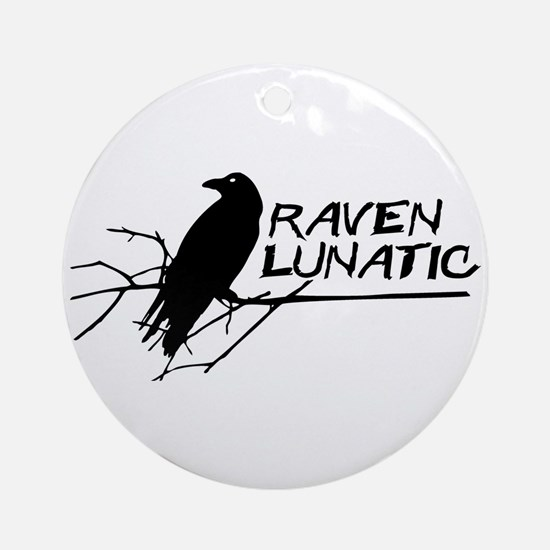 Raven Lunatic - Halloween Ornament (Round)