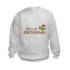 Aunt's 1st Christmas Owl Sweatshirt