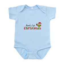 Aunt's 1st Christmas Owl Infant Bodysuit