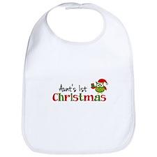 Aunt's 1st Christmas Owl Bib