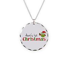 Aunt's 1st Christmas Owl Necklace