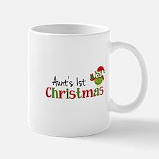 Aunt's 1st Christmas Owl Mug