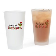 Aunt's 1st Christmas Owl Drinking Glass