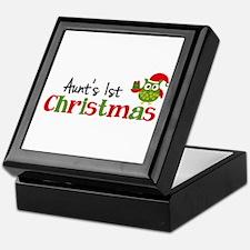 Aunt's 1st Christmas Owl Keepsake Box
