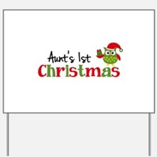 Aunt's 1st Christmas Owl Yard Sign