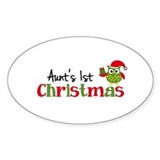 Aunt's 1st Christmas Owl Decal