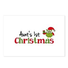 Aunt's 1st Christmas Owl Postcards (Package of 8)