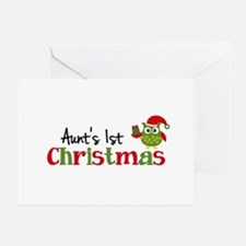 Aunt's 1st Christmas Owl Greeting Card