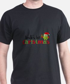 Uncle's 1st Christmas Owl T-Shirt