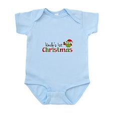 Uncle's 1st Christmas Owl Infant Bodysuit