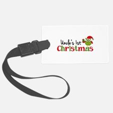 Uncle's 1st Christmas Owl Luggage Tag