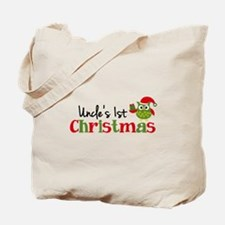 Uncle's 1st Christmas Owl Tote Bag
