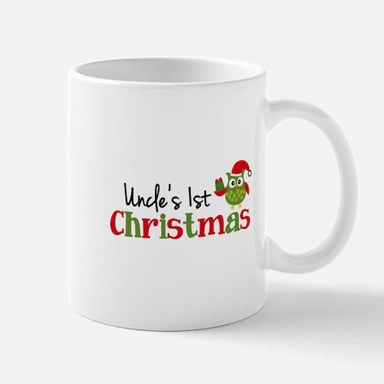 Uncle's 1st Christmas Owl Mug
