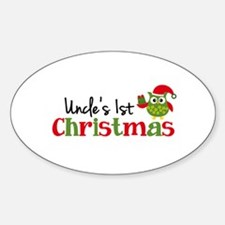 Uncle's 1st Christmas Owl Decal