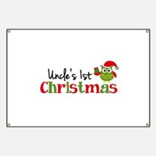 Uncle's 1st Christmas Owl Banner