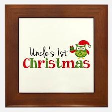 Uncle's 1st Christmas Owl Framed Tile
