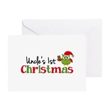 Uncle's 1st Christmas Owl Greeting Card