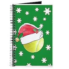 Christmas Tennis Ball With Santa Hat Journal