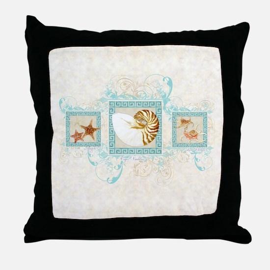 Cute Sea shell Throw Pillow