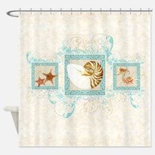 Funny Coastal Shower Curtain