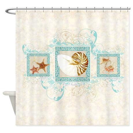 Funny Coastal Shower Curtain
