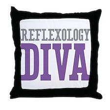 Reflexology DIVA Throw Pillow